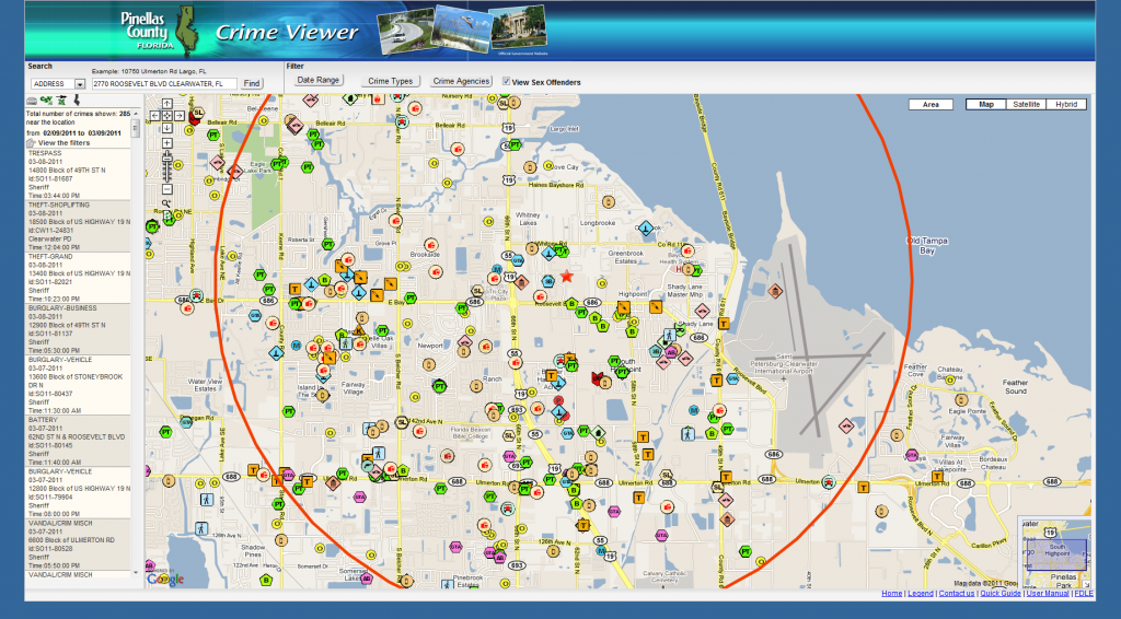 Pinellas County Crime Viewer