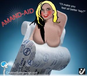 amand-aid adhesive bandage photomanipulation and illustration
