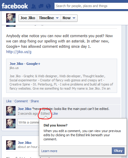 Social & Communication: Cool! Facebook adds comment ...