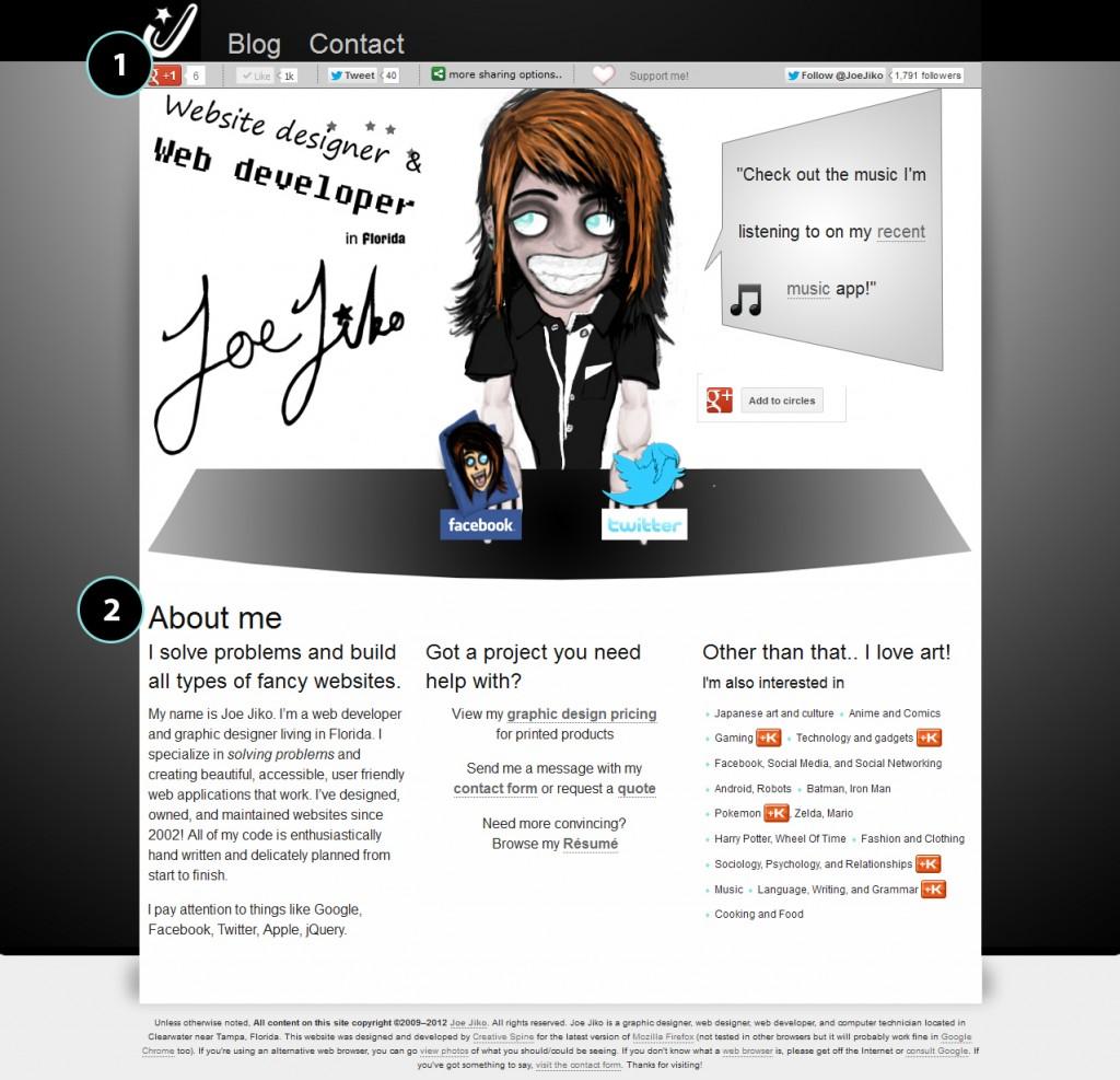 changes to joejiko.com