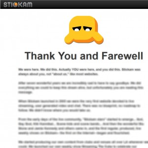thank you and farewell stickam