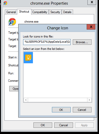change-shortcut-icon