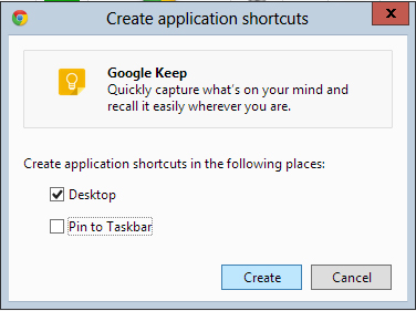 create-shortcut-menu